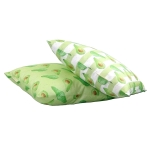 Avocado stripe cushion  Avocado print Luxury cushion,   Green and White,   50cm x 50cm,   100% Cotton,   Duck Feather Filling,   Hand Painted Design,   Concealed Zip,   Made in Great Britain,