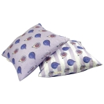 Fig cushion  Fig print Luxury cushion,   Purple,   50cm x 50cm,   100% Cotton,   Duck Feather Filling,   Hand Painted Design,   Concealed Zip,   Made in Great Britain,