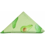 Avocado napkin  Avocado print luxury napkin,   Green,   38cm x 38cm,   100% Cotton,   Hand Painted Design,   Made in Great Britain,