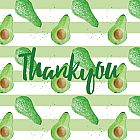 Thank You Card Avocado
