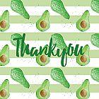 Thank You Card Avocado