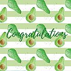 Congratulations Card Avocado